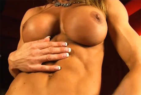 Fitness Pornostar Abby Marie perfetto athletic corpo