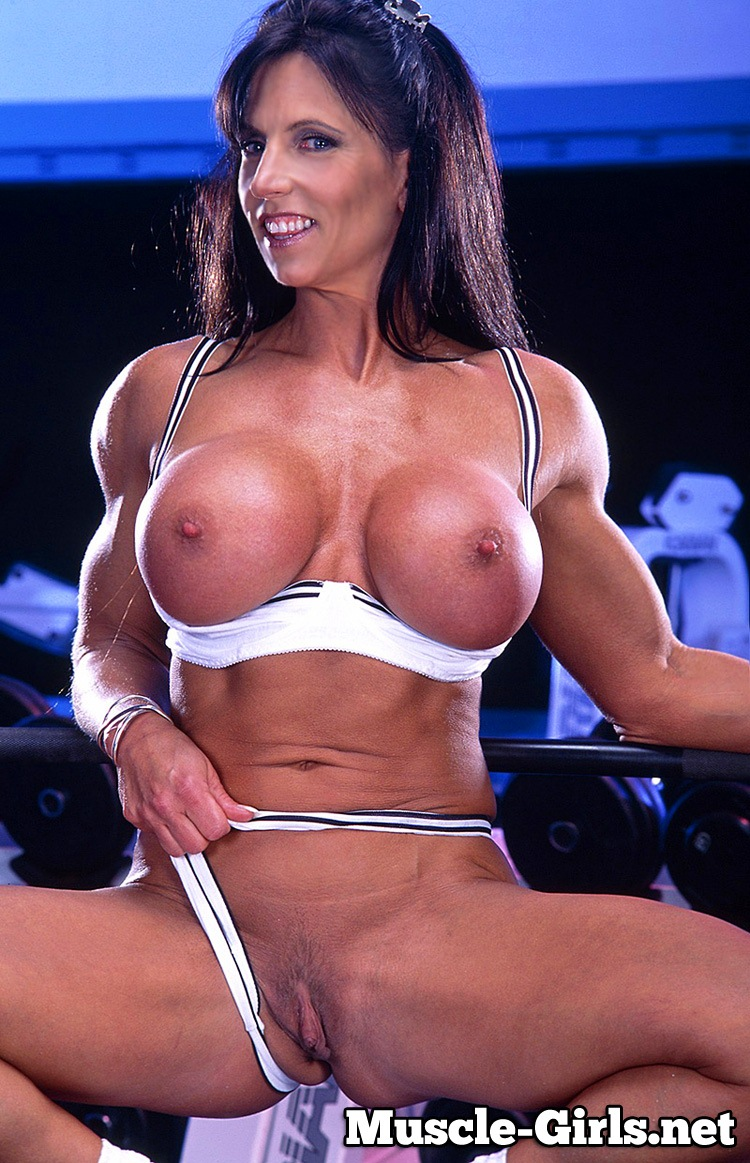Sexy body builder woman picture with