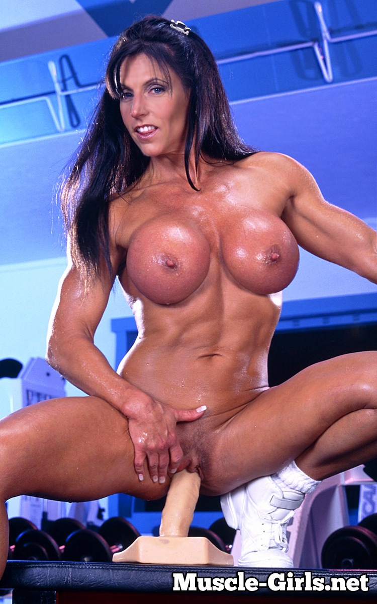 Busty Mature Muscle Woman Gym Workout And Teasing  Muscle -9235