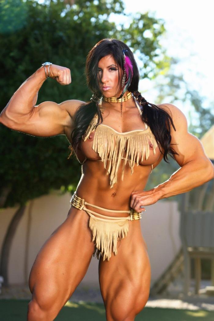 Massive boob muscle
