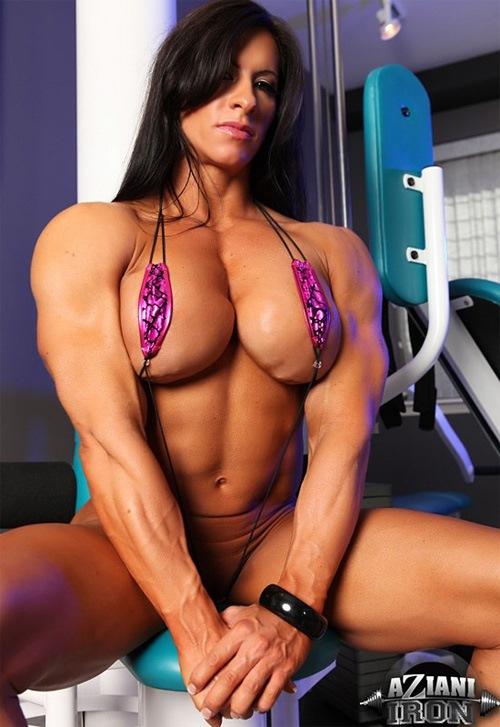 Topless female russian muscle share